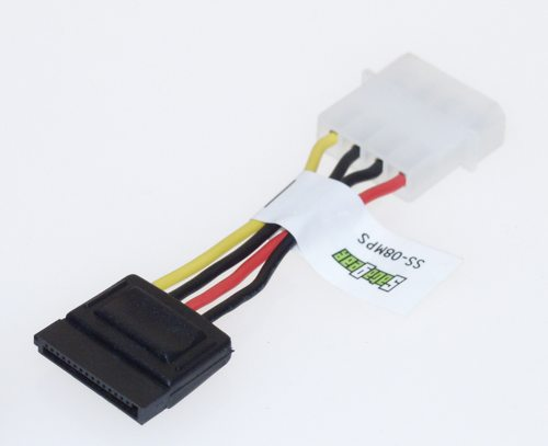 3 inch SATA Power cable, dongle 4 Pins to 15 pins IDC Type - Image A
