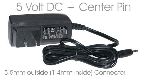 5V DC Mini Adapter for USB 2.5 inch CoolGear Brand Enclosures External  Only $13.99  at USBGear.com