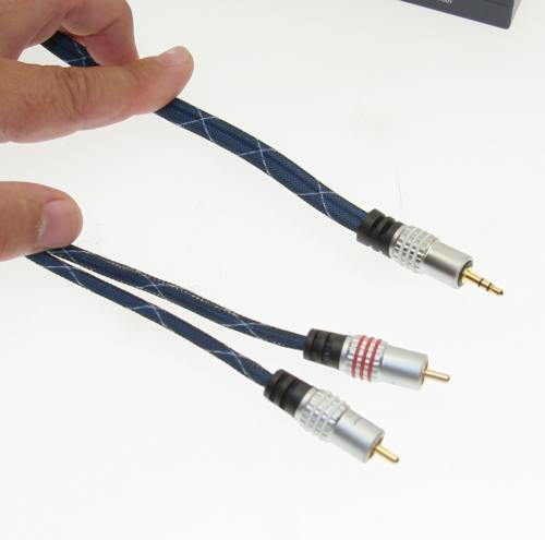 Gold Plated PRO 6ft. 3.5mm Stereo Cable to Dual RCA Cinch (1/8 to RCA) Only $6.99  at USBGear.com