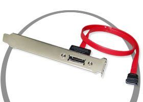 PCI SATA Female Port External PCI Slot Bracket Only $14.98  at USBGear.com