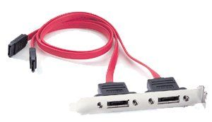 eSATA --- > External SATA 2-Port Bracket Cable 10inch eSATA External Bracket Only $9.89  at USBGear.com