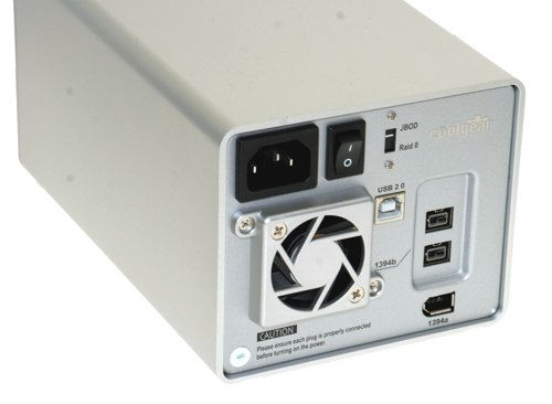 DUAL Drive 3.5-inch SATA to USB2.0 & FireWire800 HDD Enclosure - Image B