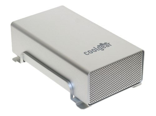 DUAL 3.5-inch SATA to USB2.0 & FireWire 800 & Firewire 400 HDD Enclosure - Image A