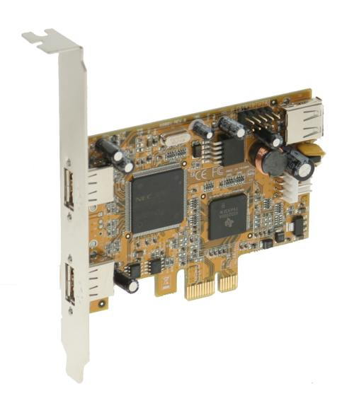 Industrial 2+1 Port USB2.0 PCI Express Host Adapter w/ Screw Lock - Image B