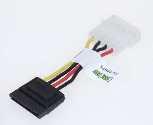 Power Molex 4-position to one 15-position Serial ATA Adapter 6-inch adapter cable  Only $1.99  at USBGear.com