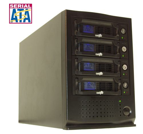 Quad Bay Removable Plastic Rack System for SATA Drives  - Image A