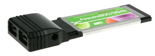 IEEE1394b  FireWire 800  ExpressCard for MAC and PC for New Laptops - Image A