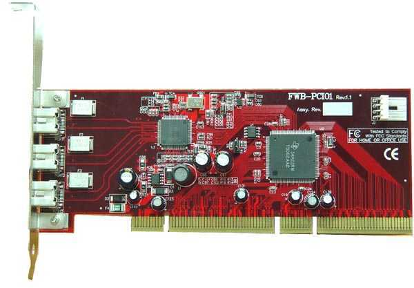 FireCard-800 1394b PCI adapter -  FireWire 800/1394 for all Windows and MAC machines with 64-bit PCI SLOT Only $69.97  at USBGear.com