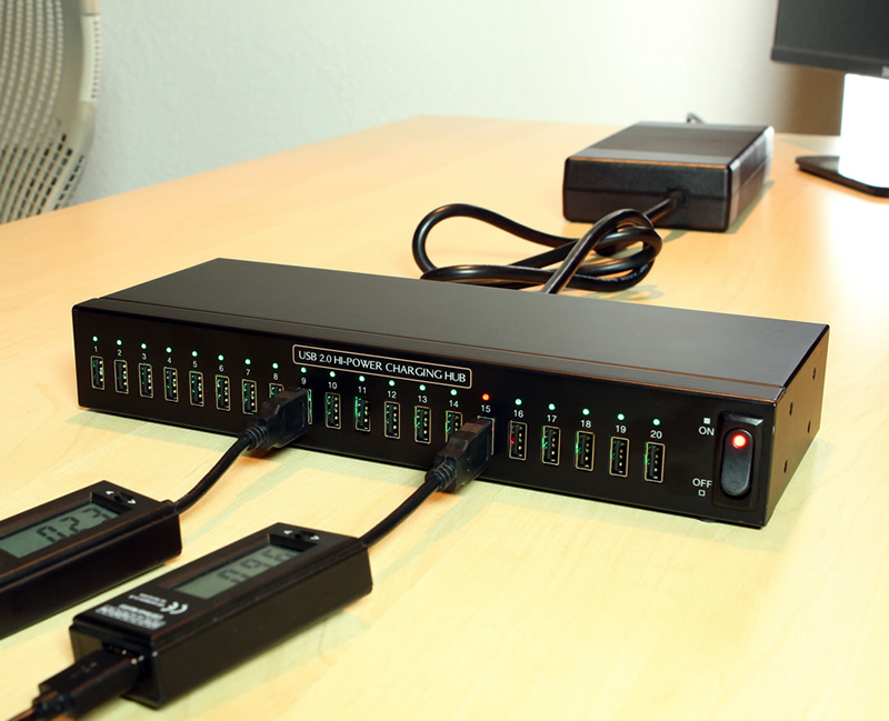Usb Charging Hub >> Usb Charging Hub 20 Port Hi Power Usb Charger