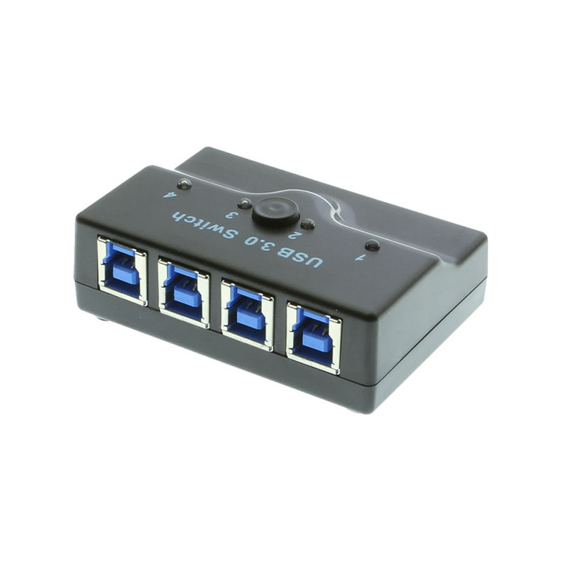 USB 3.0 Manual 4-port AB Switch 4 computers to 1 device