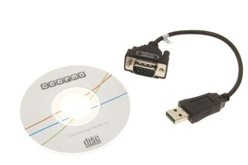 USB to RS-232 Serial Adapter DB9 - 8 Inch Short Cable - Image C