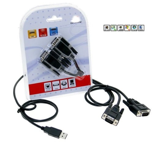 USB 2 Port Serial DB 9 RS 232 Adapters With MCS7820CV AA Chipset