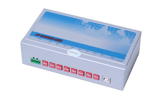 USB-8COMi-M USB to 8X DB-9 Port RS-422/485 Metal case with DIN-Rail - Image C
