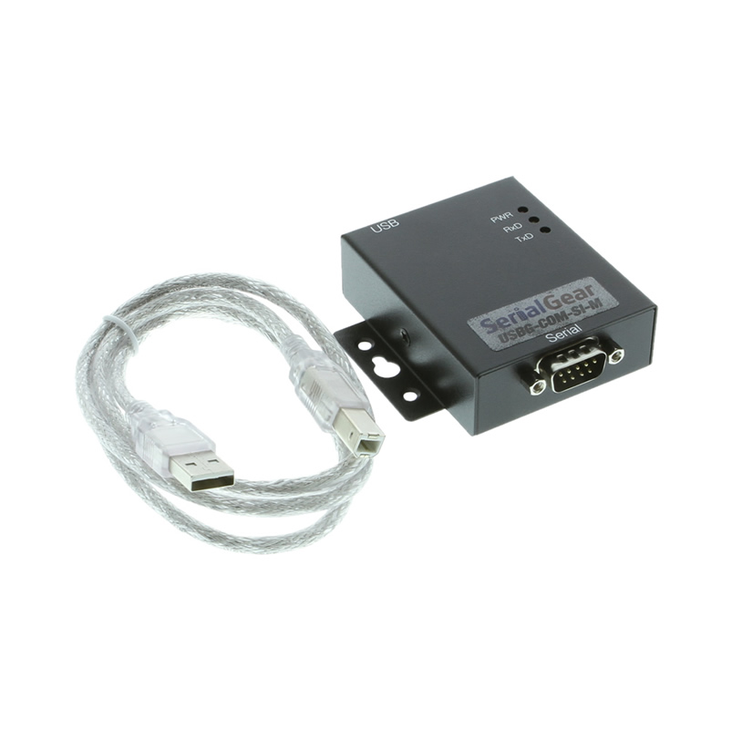USB to RS-232 Optically Isolated Industrial Adapter with DIN-Rail - Image C