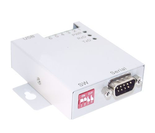 USB to RS-232 Optically Isolated Industrial Adapter with DIN-Rail - Image A