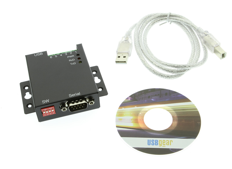 1-Port USB to RS-232 Selectable RS-422 or RS-485 Industrial Adapter - Image C