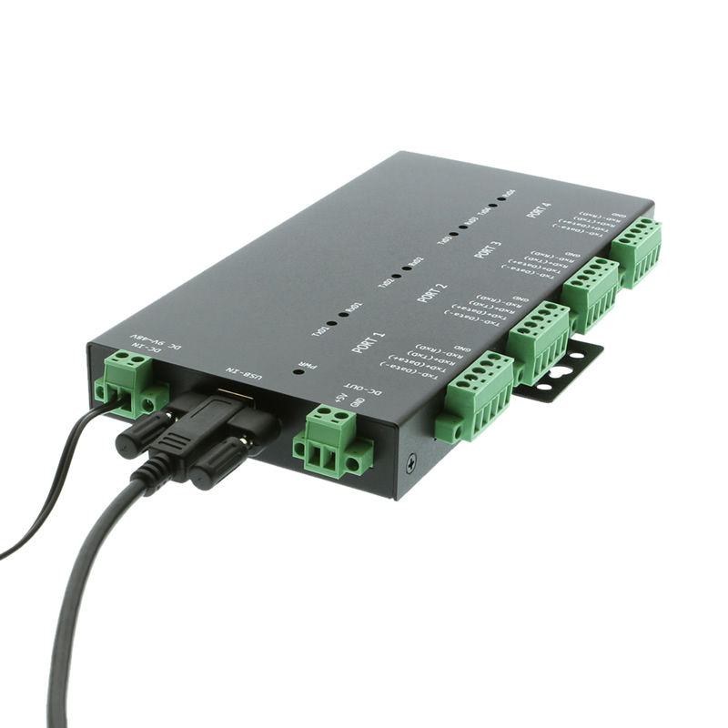 USB 2.0 to 4-Port RS232-422-485 Serial TB Adapter Isolation | Surge - Image C