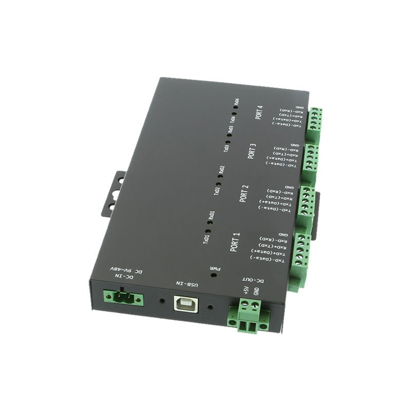 USB 2 to Industrial 4-Port RS232-422-485 Serial TB Adapter - Image A