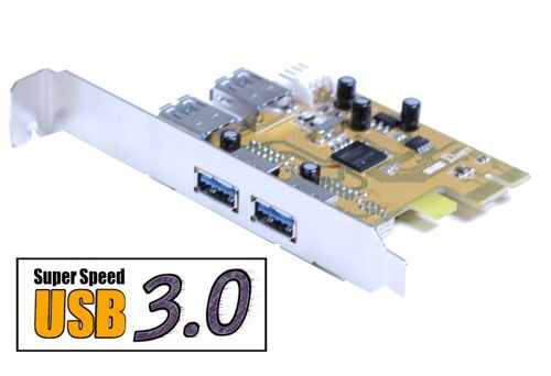 USB 3.0 PCI-e card 2X2 Internal/External Ports for Windows 7/Vista Only $39.98  at USBGear.com