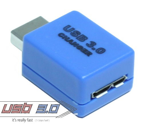 USB 3.0 Gender Changer A Male to Micro B Female Only $9.19  at USBGear.com