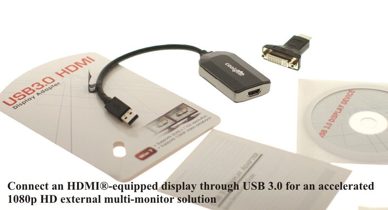 USB 3.0 to HDMI Converter HDTV Solution for Windows 7 - Image C
