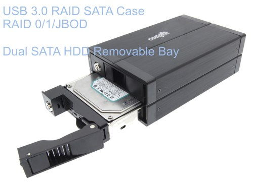USB 3.0 SATA Hard Drive RAID Enclosure Dual Drive Removable Bay Only $59.95  at USBGear.com