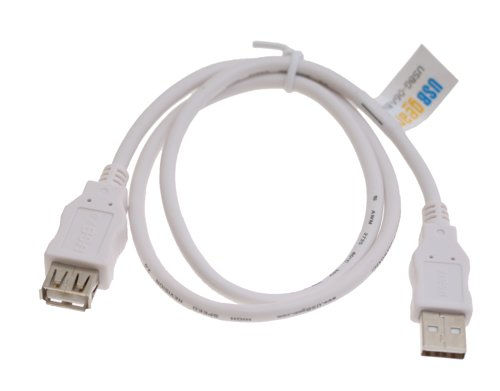 USB 2.0 Hi-Speed A to A Extension Cable 24-inch Pure White Only $2.79  at USBGear.com