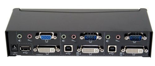 2-Port USB KVM Switch with audio and DVI connection - Image A