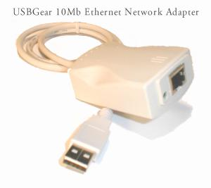 USBGear to Ethernet 10BaseT Adapter