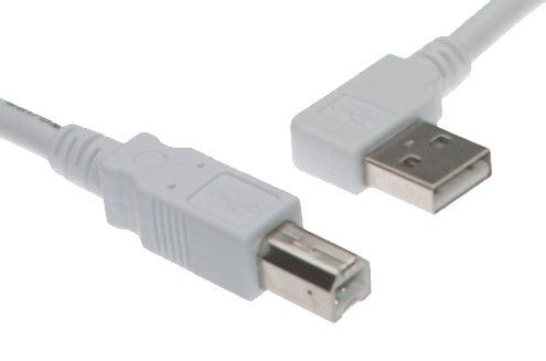 6ft. White USB Cable A Right Angle to  B, High-Speed USB 2.0 Device Cable Only $3.99  at USBGear.com