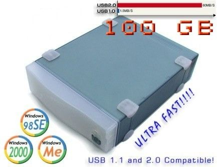 USB 2.0  100GB Full Speed Drive ULTRA FAST