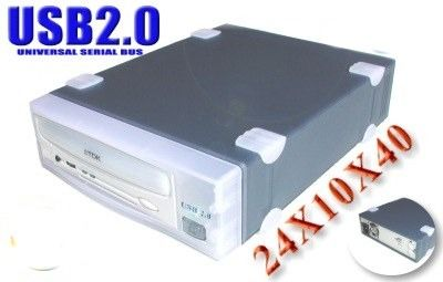 USB 2.0 24x10x40 CD-RW Drive for WINDOWS 2000