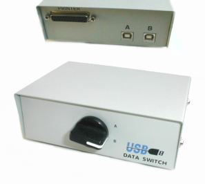 Data Switch of 2 USB PCs To Standard Parallel Prin Only $29.50  at USBGear.com