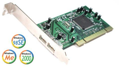 2-Port USB 2.0 High Speed PCI Interface Card