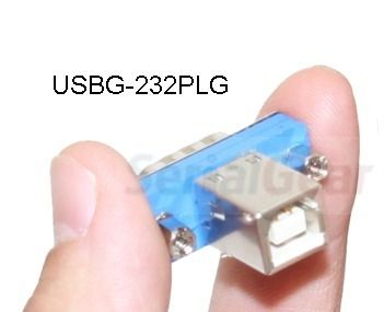 SerialGear MicroPLUG(TM) USB RS-232 Serial to USB B Adapter  Only $28.45  at USBGear.com