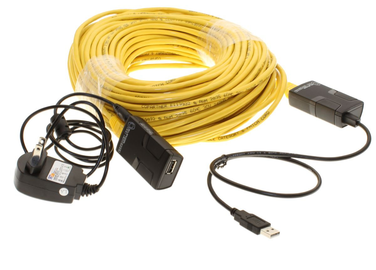 USB 2.0 Line Extender Kit  up to 150ft. via Category 5 Network Cable - Image B