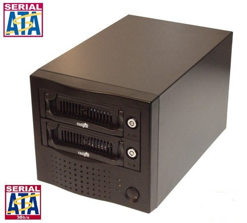 USB 2.0 Output Dual Removable SATA Hard Drive Enclosure - Image A