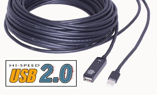 40ft. USB 2.0 Extension Cable USB Active Extension Cable/Booster Cable - Image B