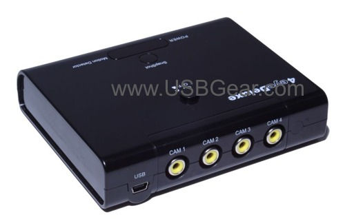 USB Digital Video Recorder 4 video Input 120 fps real-time USB Surveillance Video Grabber Only $79.99  at USBGear.com