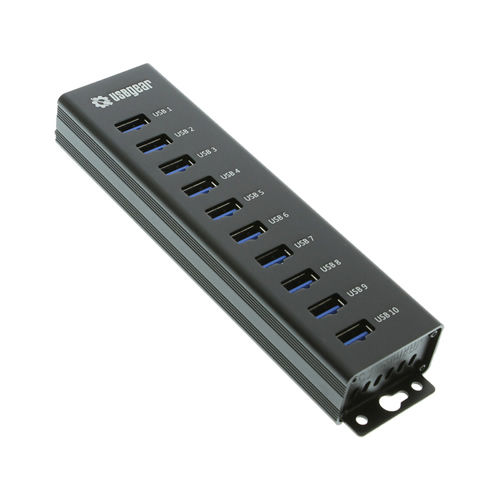 USBGear 10-Port USB 3.0 Mountable Charging and SuperSpeed Data Hub Only $45.99  at USBGear.com