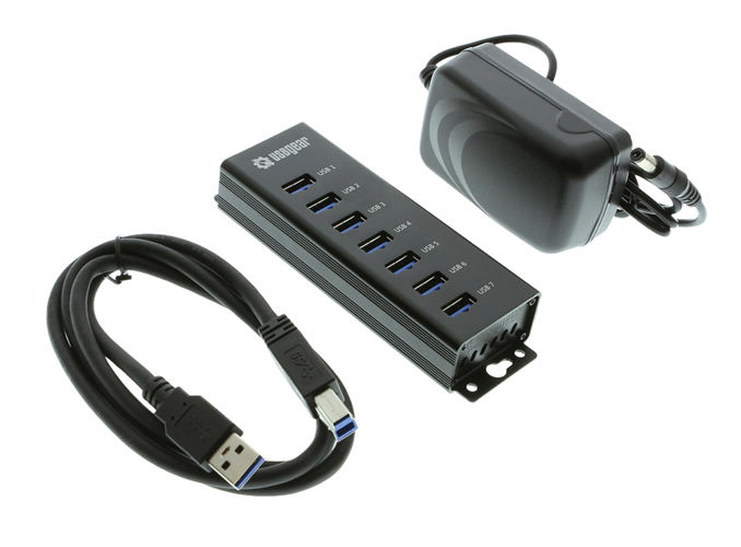 7-Port USB 3.0 Charging and SuperSpeed Mountable Data Hub - Image B