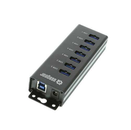 7-Port USB 3.0 Charging and SuperSpeed Mountable Data Hub - Image C