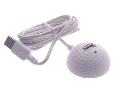 USB GOLF BALL DESKTOP Extension Cables 5ft. A to A female USB 2.0 and USB 1.1 - Image A