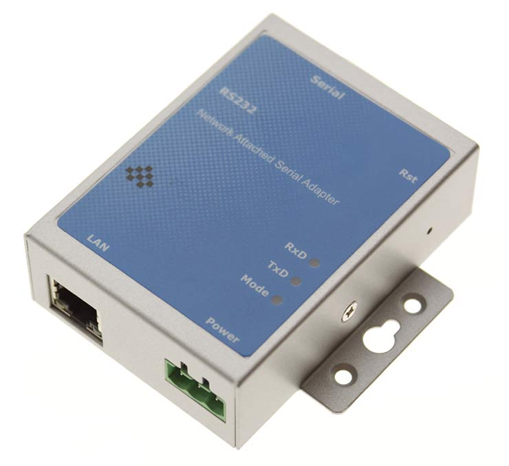 Industrial 1 Port RS-232 DB9 Serial over Network Device Server - Image A