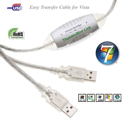 USB 2.0 DRIVERLESS LINK-DATA TRANSFER CABLE for VISTA,XP, 7 (32/64bit)  - Image B