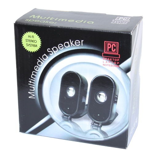 Very Portable USB 2.0 Speakers for Laptops (with Built-In Sound Card)  - Image B
