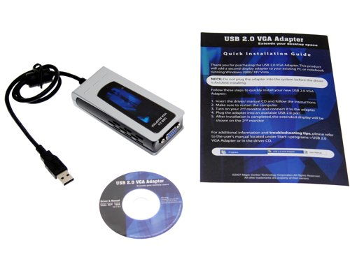 USB 2.0 External Graphics Card for XP and Vista up to 1920x1200 Resolution - Image C