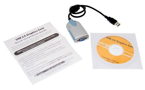 USB 2.0 Hi-Speed USB Video Card Adapter SVGA for XP and Vista - Image B