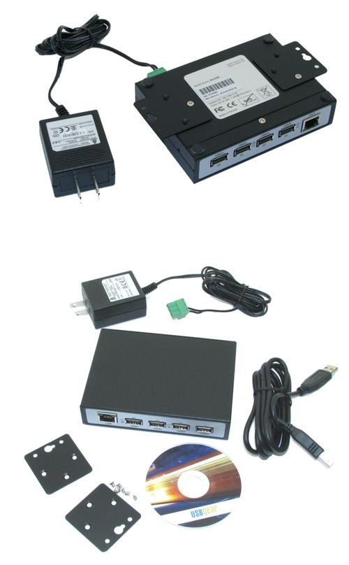Industrial USB 2.0 Over IP Network 4-Port Hub, Share any USB Device Over TCP/IP Network - Image B