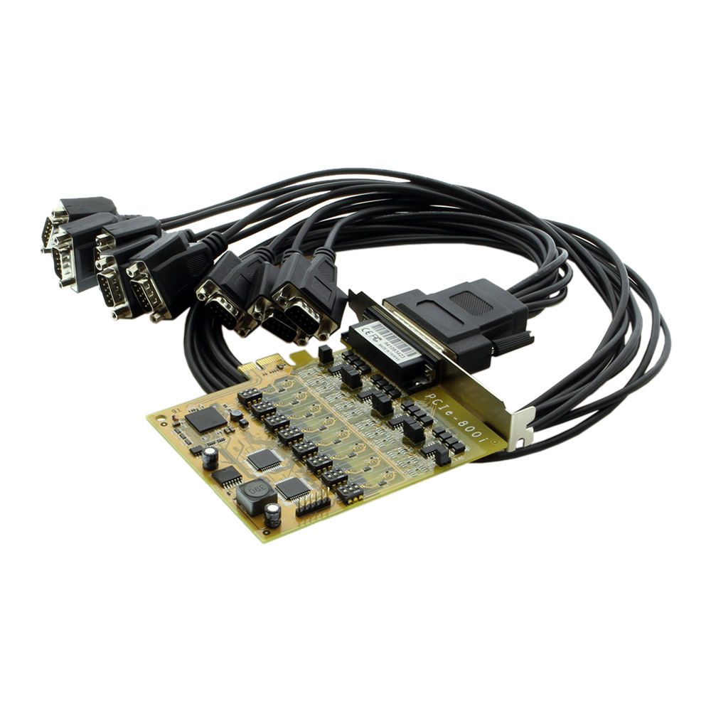 PCI Express to 8-Port RS422/485 Serial Board w/EXAR Chip